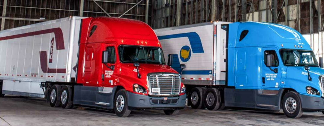 Crete Carrier and Shaffer Trucking trucks