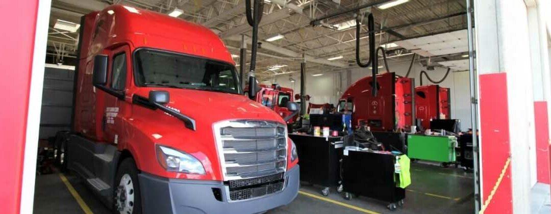 Trucks in the shop