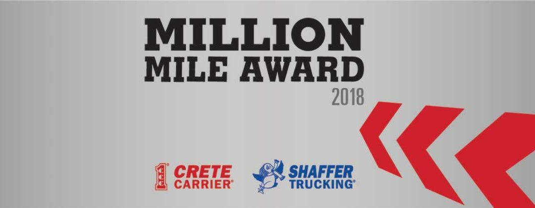 Crete Carrier and Shaffer Trucking Million Mile Award 2018