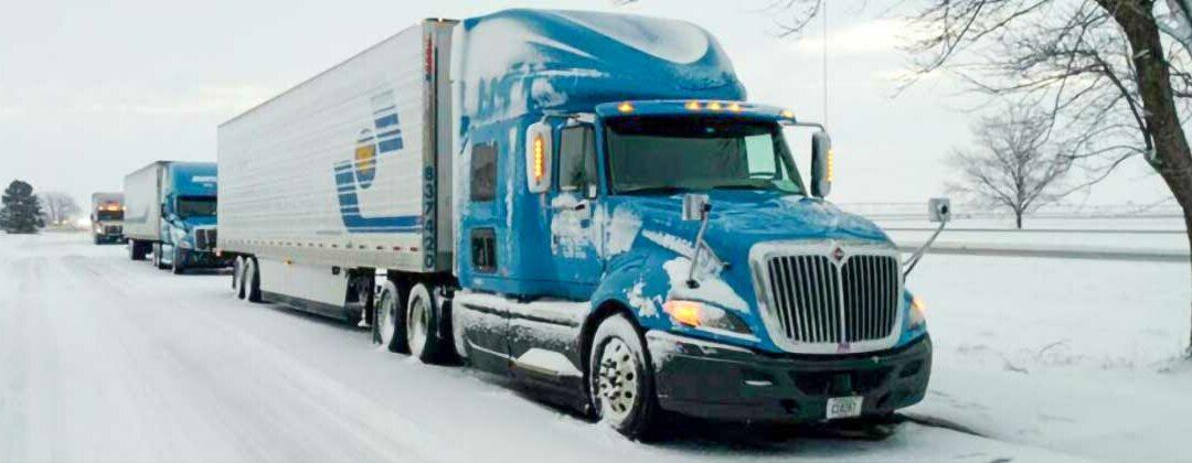 Shaffer trucks on winter roads
