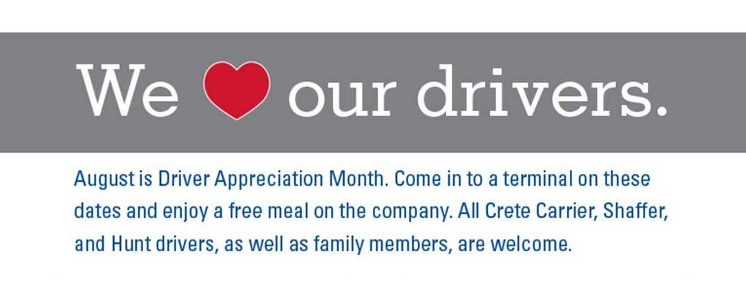 Driver Appreciation Month