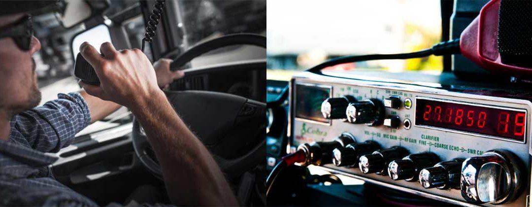 CB radio in truck