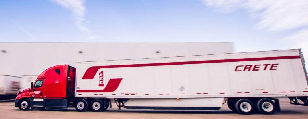 Crete dry van trailer on lot