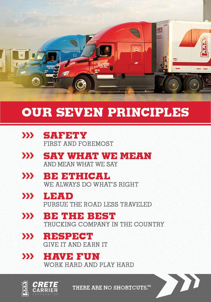 Crete Carrier Corporation's Seven Principles