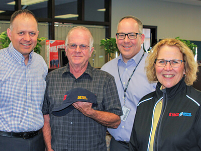 Crete Carrier and Shaffer Trucking honor a 20 year driver