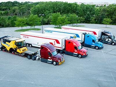 Crete, Shaffer, and Hunt trucks