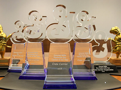 Crete Carrier General Mills Platinum Carrier of the Year awards