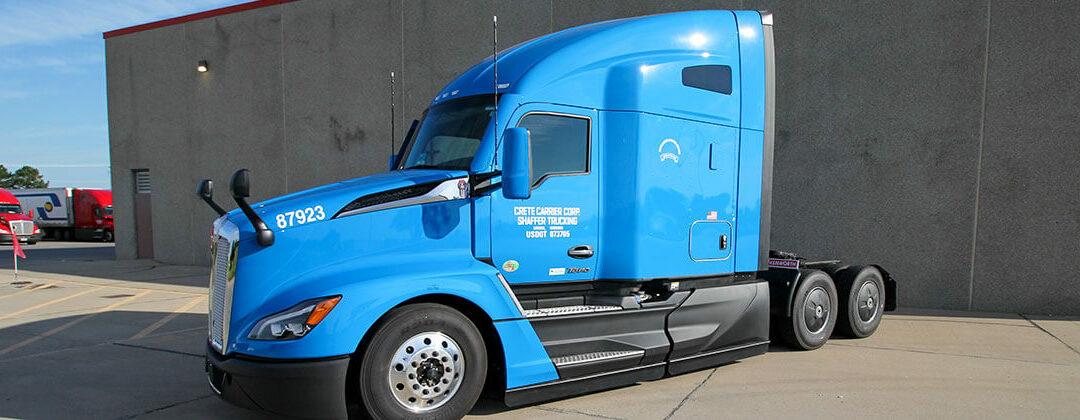 Kenworth T680 Next Generation blue truck